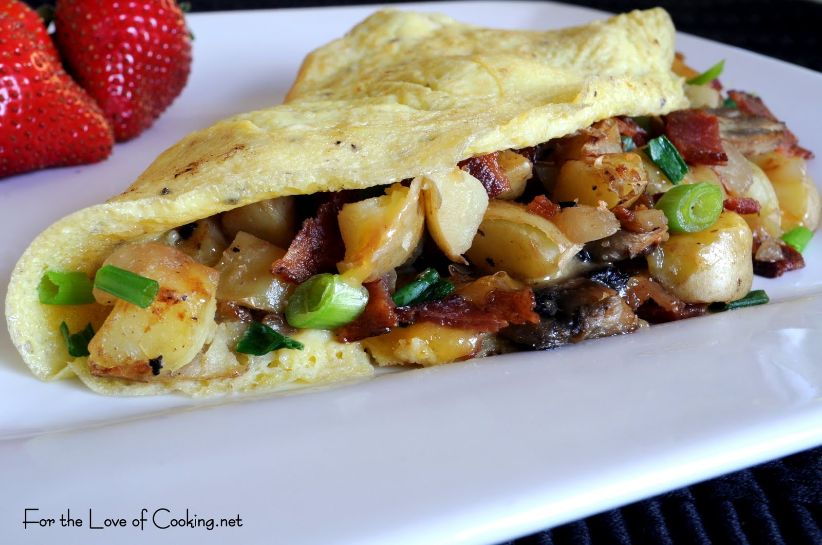 Peasant Omelet with Potatoes, Mushrooms, Bacon, and Cheddar | For the ...
