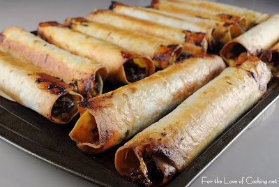 Shredded Beef and Cheddar Baked Flautas