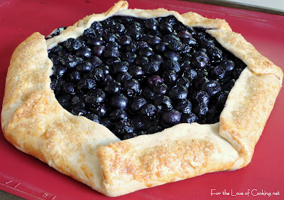 Blueberry and Lemon Curd Galette with Vanilla Bean Whipped Cream