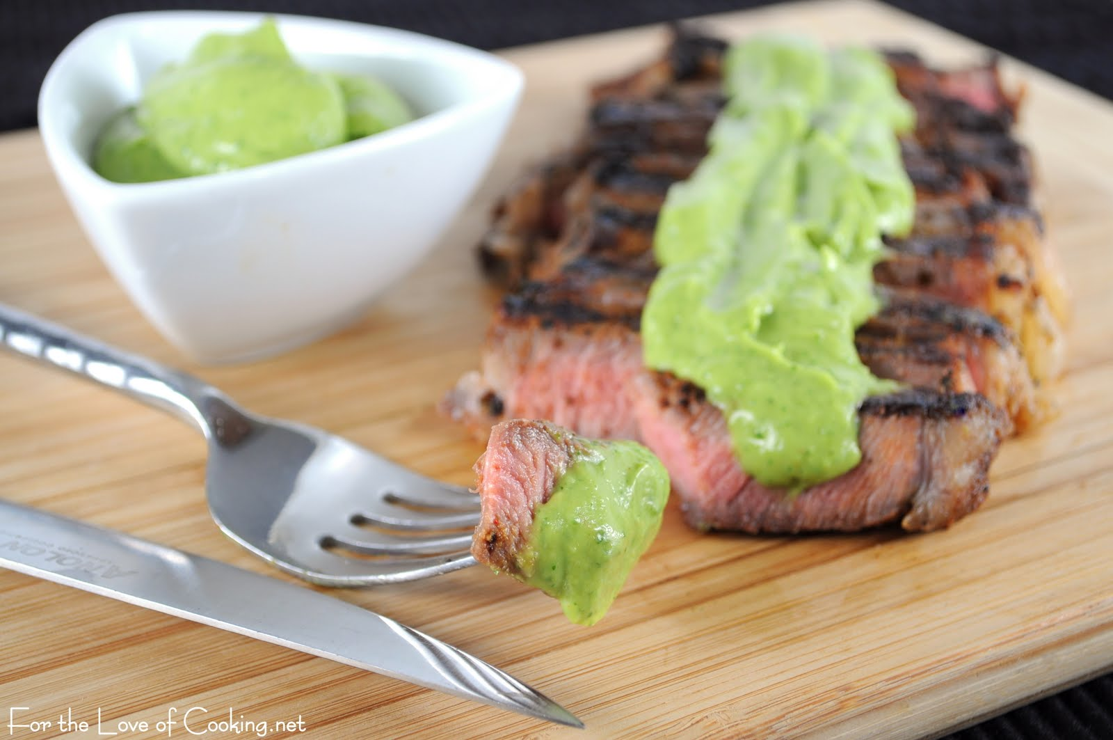 Grilled Steak with Avocado Sauce | For the Love of Cooking