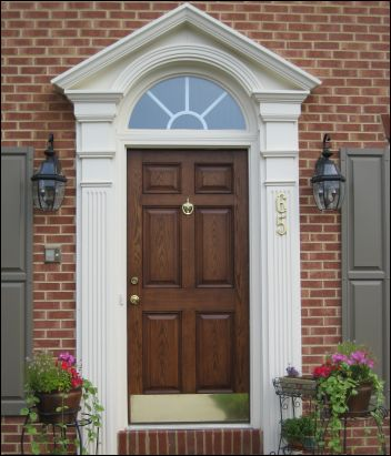 White swan homes and gardens front entrance doors for for Front door entrance designs for houses