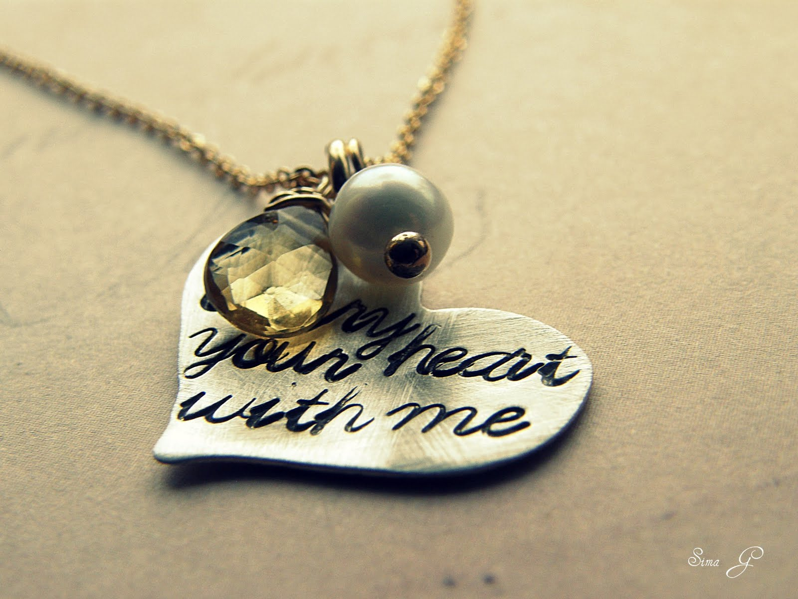 ♥ SimaG Personalized Jewelry ♥: i carry your heart with me ...