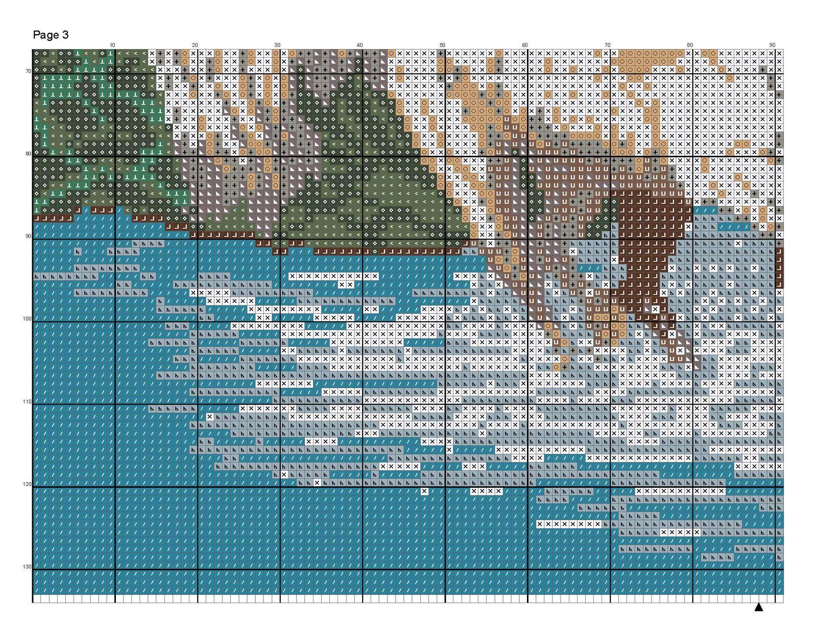 Схема вышивки крестом Девушка и лошадь : Онлайн-мастерская 75