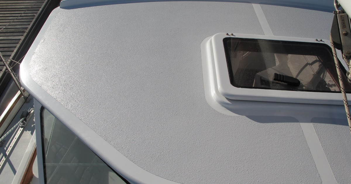 Ckd boats roy mc bride a none slip paint deck system for No skid paint