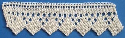 1884 Knitted Lace Sample Book: 10. Knitted Edging