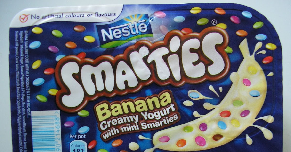 FOODSTUFF FINDS: Banana Creamy Yogurt with Mini Smarties ... Smarties Mini