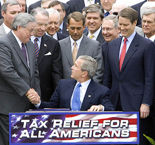 Bush signs the tax increase of 2006
