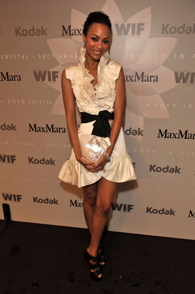 Zoe Saldana at Crystal %2B Lucy Awards Swa Rai Fashion Blog: Fashion Yay or Nay Zoe Saldana in MaxMara