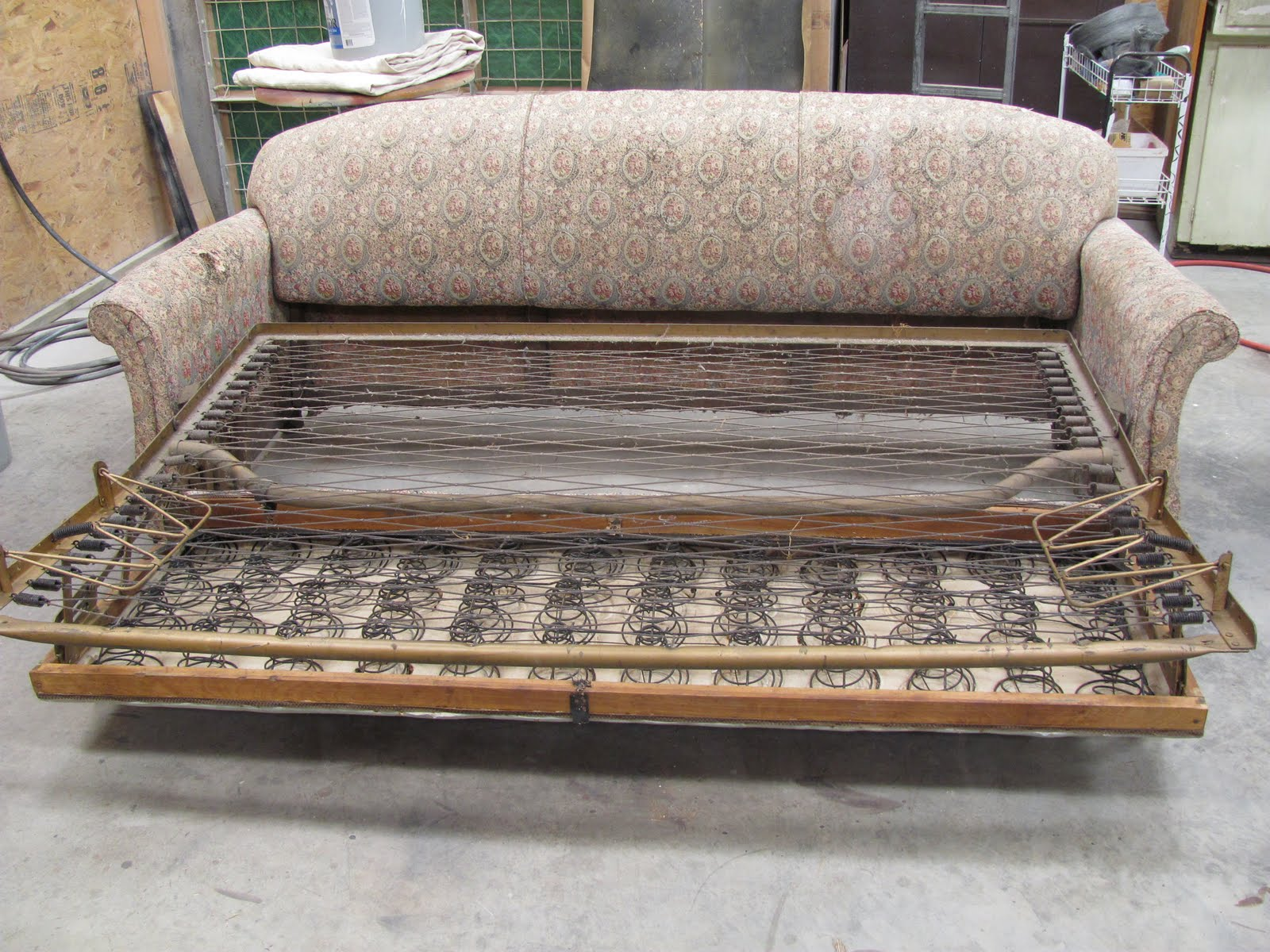 Thomas Nelson Furniture Restoration Antique Sleeper Sofa Frame Repair