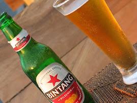 お気に入りのビンタンビールで、ごくっと一杯。