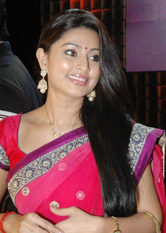 Sneha - Actress with Best Hair in Red Saree