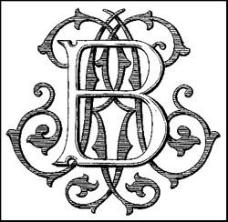 my own monogram, RB