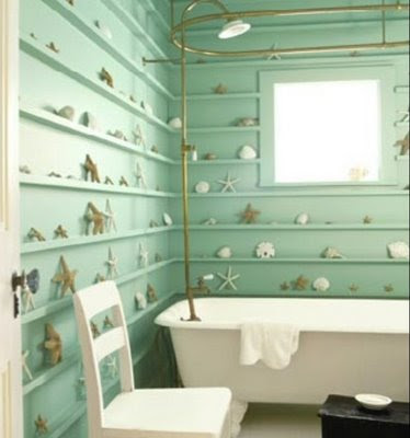 Halloween and Open Shelves in Bathroom | Content in a Cottage