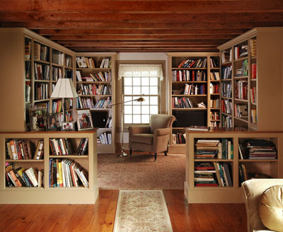 Bookcases Make This Reading Room Content In A Cottage