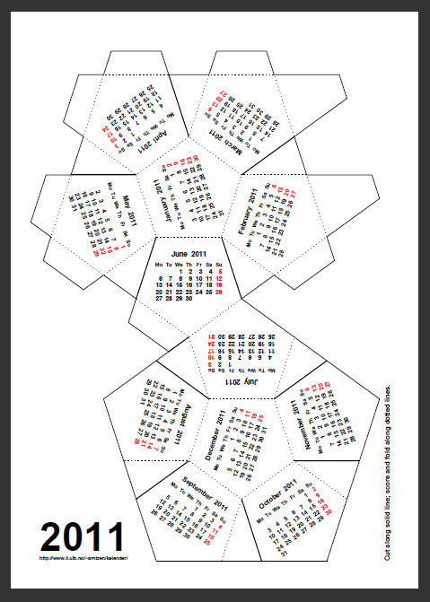 Как сделать календарь из бумаги