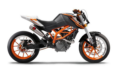 Motor KTM DUKE 125 Race and Stunt