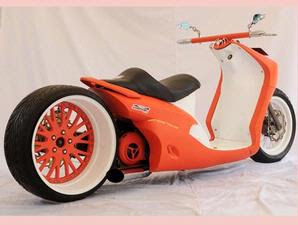 low rider chopper from yamaha mio modif