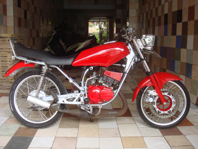 Yamaha 95 RX King Modif cool Red airbrush