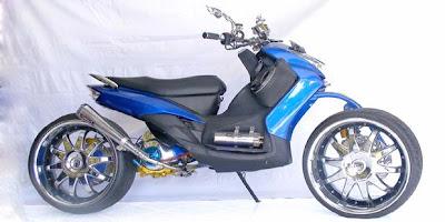 Modifikasi Yamaha Mio Sporty Legged Extreme Gambar Modifikasi