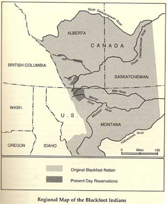 Where the Blackfoot lived