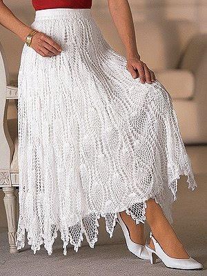 Free Crochet Pattern Ladies Skirts : SRI SAI LACE INDUSTRY: CROCHET SKIRTS