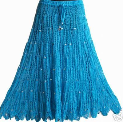 Вязаные длинные юбки со ми