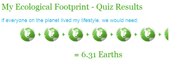 Reduce your footprint: Ecological Footprint Quiz by Center for ...