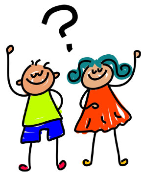 Kids Asking Questions Clip Art