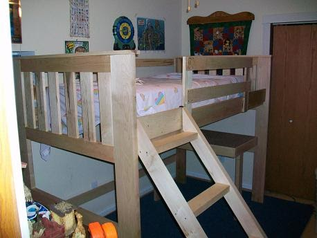 Furniture: Mission Style Loft Bed