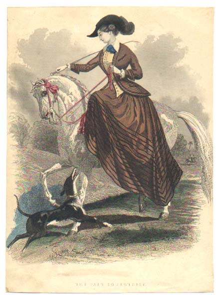 i love historical clothing  fashion plate riding habit