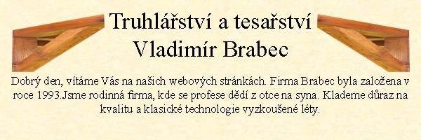 Truhlářství a tesařství Vladimír Brabec