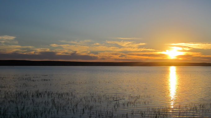 A beautiful sunset over Langebaan Lagoon