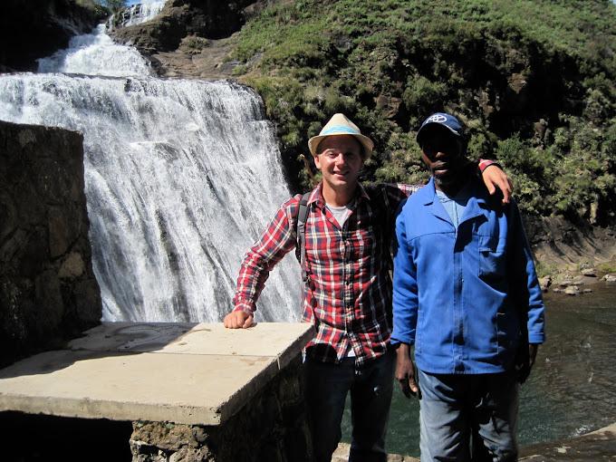 Thabang and I at the Quihlore waterfall