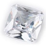 Cubic Zirconia white square Princess Stones in aaa quality