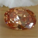 Cubic Zirconia Champagne Color Oval cut