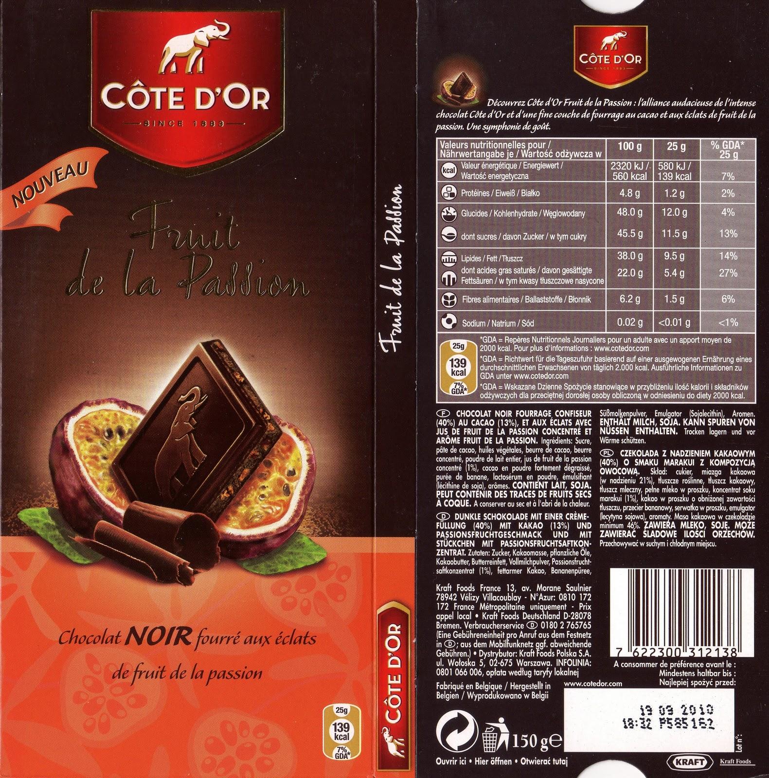 C te d 39 or noir fruits passion tablettedechoc - Comment cuisiner une dinde pour quel reste moelleuse ...