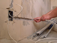 ...электропроводке; в стенах создают отверстия.