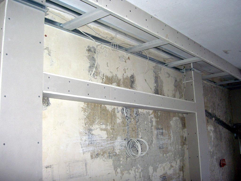 Квартиранариум - капитальный ремонт квартиры или дома своими руками: Технология и монтаж ГКЛ (потолок, колонны, короб, портал с