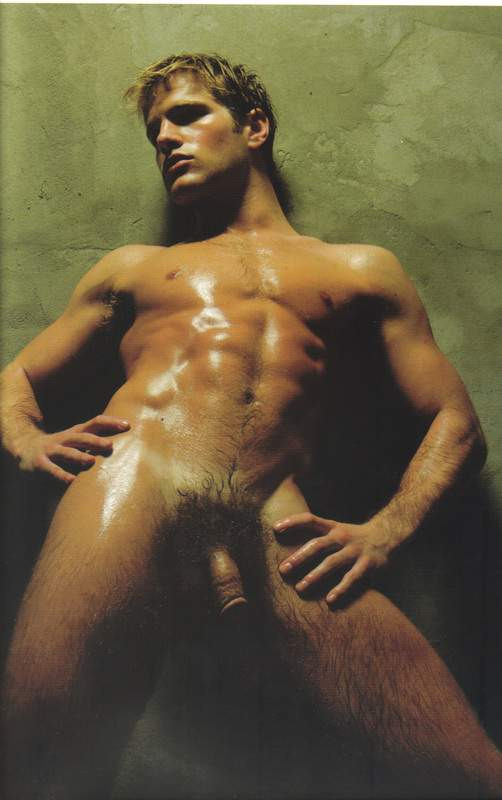 The well-known male model Joe Sayers in the art-work American photographer ...