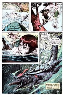 Tor v2 #1 dc bronze age comic book page art by Joe Kubert