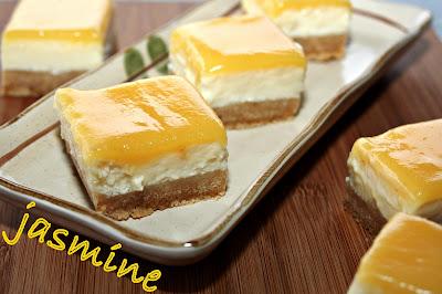 Patrate de Cheesecake cu Branza Quark si Lemon Curd