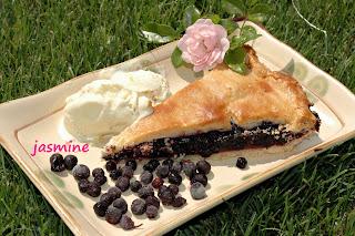 """Inapoi acasa ! Si inca o tarta, acum cu afine  """"Blueberry pie"""""""