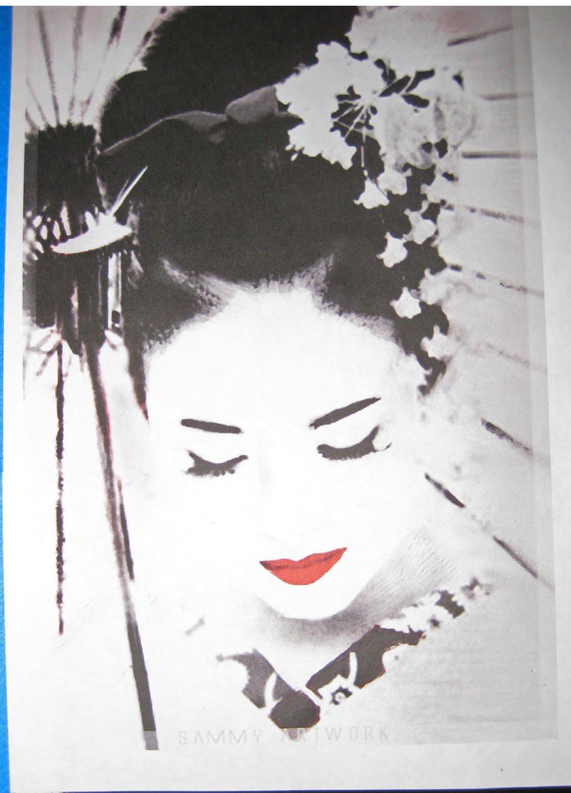 draw geisha