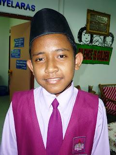Pada Ujian Selaras yang lalu,adik Muhd Hairi Bin Padzil dari kelas 6