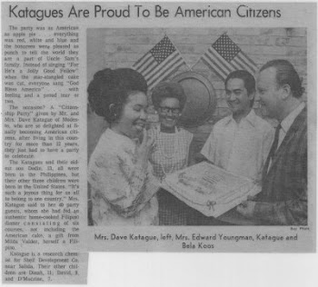 KATAGUES are Proud to be American Citizens,1972