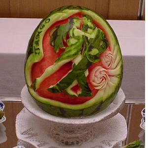 Fruit Carving Arrangements and Food Garnishes: Watermelon With