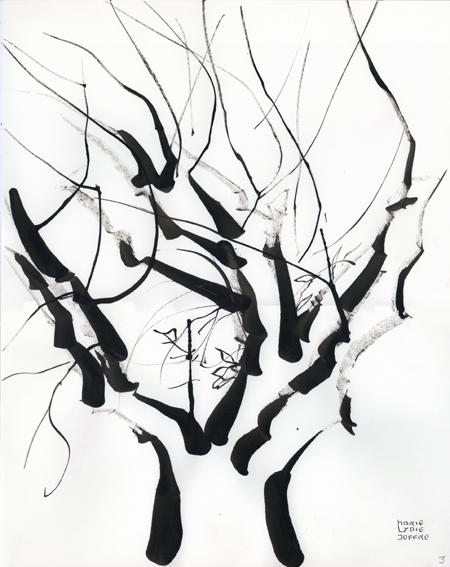 Marie lydie joffre arbres l 39 encre de chine olivier et zelkova du japon - Dessin arbre chinois ...
