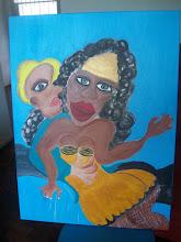 A noiva é o calço ameríndio e africano.