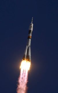 Soyuz tour bus lifts off.