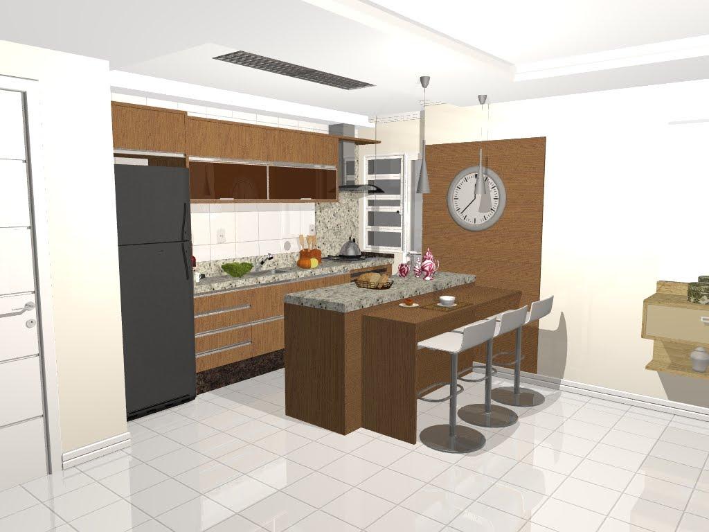 Designer de Interiores: Cozinha By Franciele #A1682A 1024 768